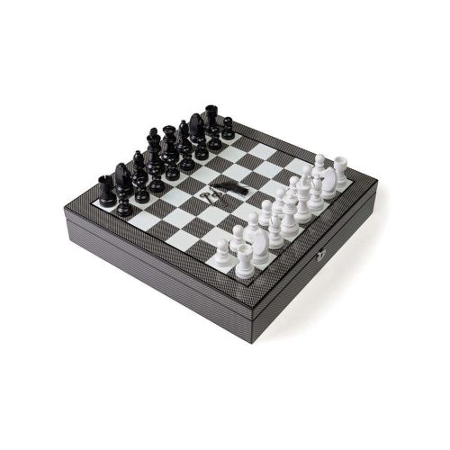 Carbon Fiber Chess set with Inside Compartments