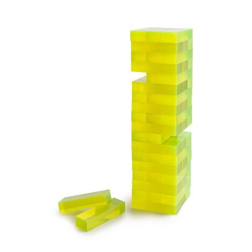 Neon Yellow Acrylic Tumble Tower